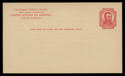 U.S. Scott # UX  25T2, 1911 2c Ulysses S, Grant, red on buff, Type 2 - Mint Face Postal Card (See Warranty)