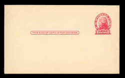 U.S. Scott # UX  30, 1918 2c Thomas Jefferson, red on cream, Die 2 - Mint Face Postal Card