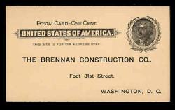 U.S. Scott # UX  14, 1897 1c Thomas Jefferson, black on buff - Unused (Preprinted) Postal Card