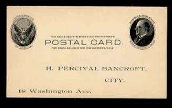 U.S. Scott # UX  18, 1902 1c William McKinley, Side View, black on buff - Unused (Preprinted) Postal Card