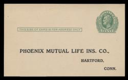 U.S. Scott # UX  26, 1913 1c Abraham Lincoln, green on cream - Unused (Preprinted) Postal Card