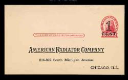 U.S. Scott # UX  35, 1920 1c on 2c Thomas Jefferson (UX30), red on buff, Die 2, PRESS-PRINTED - Unused (Preprinted) Postal Card (See Warranty)