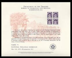 Brookman B 30/Scott SC41 1975 Napex '75 Souvenir Card