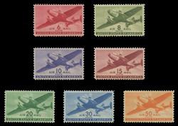 U.S. Scott # C  25 - 31, 1941-44 Twin Motored Transport Plane Series (Set of 7)