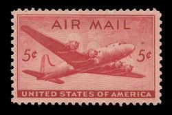 U.S. Scott # C  32, 1946 5c DC-4 Skymaster