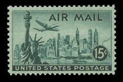 U.S. Scott # C  35, 1947 15c Statue of Liberty