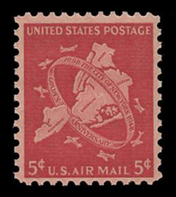 U.S. Scott # C  38, 1948 5c New York City Issue