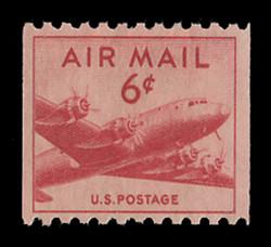 U.S. Scott # C  41, 1949 6c DC-4 Skymaster Coil