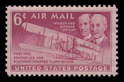 U.S. Scott # C  45, 1949 6c Wright Brothers & Plane