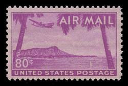 U.S. Scott # C  46, 1952 80c Diamond Head, Hawaii