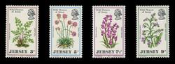 JERSEY Scott #   61-4, 1972 Wild Flowers of Jersey (Set of 4)