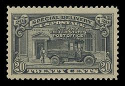 U.S. Scott # E 14, 1925 20c Messenger and Motorcycle - Flat Press, Perf. 11
