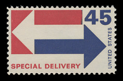 U.S. Scott # E 22, 1969 45c Special Delivery - Arrows