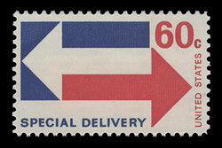U.S. Scott # E 23, 1971 60c Special Delivery - Arrows