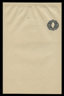 U.S. Scott # W  57, 1864 2c Jackson, Scott Die U20, black on light manila - Wrapper, Unfolded