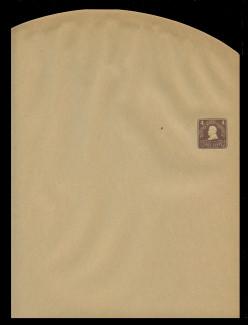 U.S. Scott # W 392, 1903 4c Grant, Scott Die U87, chocolate on manila - Wrapper, Unfolded