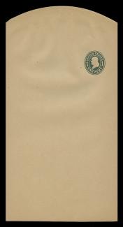 U.S. Scott # W 405b, 1907 1c Franklin, Scott Die U85, green on manila, Die 3 - Wrapper, Unfolded