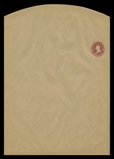 U.S. Scott # W 410, 1907 2c Washington, Scott Die U91, brown red on manila, Die 1 - Wrapper, Unfolded (See Warranty)