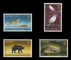 JERSEY Scott #   65-8, 1972 Jersey Wildlife Preservation Trust (Set of 4)