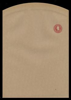 U.S. Scott # W 433, 1916 2c Washington, Scott Die U93, carmine on manila, Die 1 - Wrapper, Unfolded