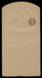 U.S. Scott # W 485, 1925 1½c Washington, Scott Die U93, brown on manila, Die 1 - Wrapper, Unfolded