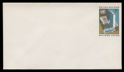 U.N.N.Y. Scott # U  5 S, 1973 8c UNNY Headquarters - Mint Envelope, Small Size
