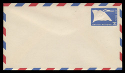 U.N.N.Y. Scott # UC  3 S, 1959 7c U.N. Flag & Plane - Mint Envelope, Small Size