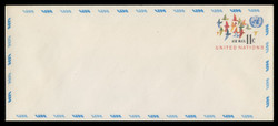 U.N.N.Y. Scott # UC 10L, 1973 11c Birds in Flight - Mint Envelope, Large  Size