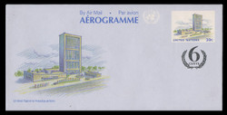 U.N.N.Y. Scott # UC 17, 1991 39c +6c UNNY Headquarters - Mint Air Letter Sheet, Folded