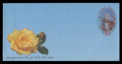 U.N.N.Y. Scott # UC 20, 1997 50c Cherry Blossoms - Mint Air Letter Sheet, Folded