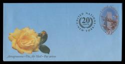 U.N.N.Y. Scott # UC 22, 2001 50c +20c Cherry Blossoms - Mint Air Letter Sheet, Folded