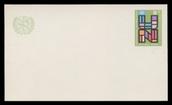 U.N.N.Y Scott # UX  6, 1975 6c U.N., Multicolored - Mint Postal Card