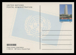U.N.N.Y Scott # UX 20, 1998 21c Secretariat Building - Mint Picture Postal Card