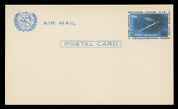 U.N.N.Y. Scott # UXC  4, 1963 6c Outer Space - Mint Postal Card