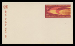 U.N.N.Y. Scott # UXC  5, 1966 11c Earth & Moon - Mint Postal Card