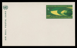 U.N.N.Y. Scott # UXC  6, 1968 13c Earth & Moon - Mint Postal Card