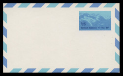 U.N.N.Y. Scott # UXC 10, 1975 11c Clouds - Mint Postal Card