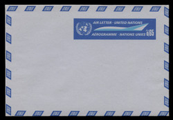 U.N.GEN Scott # UC  1, 1969 65c U.N. Emblem & Stylized Plane - Mint Air Letter Sheet, Folded