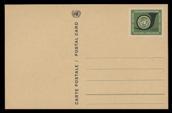U.N.GEN Scott # UX  1, 1969 20c U.N. Emblem & Post Horn - Mint Postal Card