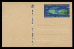 U.N.GEN Scott # UX  2, 1969 30c Earth and Moon - Mint Postal Card