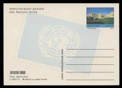 U.N.GEN Scott # UX 14, 1998 1.10fr Palais de Nations - Mint Postal Card