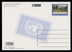 U.N.GEN Scott # UX 15, 2002 1.30fr Palais de Nations - Mint Postal Card