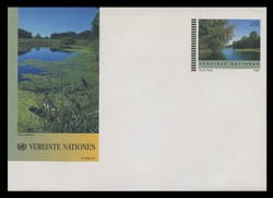 U.N.VIEN Scott # U  3, 1998 13s Landscape, Lake Scene - Mint Envelope