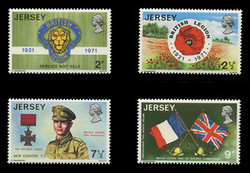 JERSEY Scott #   53-6, 1971 The British Legion (Set of 4)