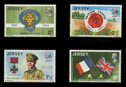 JERSEY Scott #   53-6, 1971 The British Legion (Set of 4)