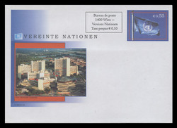 U.N.VIEN Scott # U 10, 2007 55c +10c U.N. Flag (U8) - Mint Envelope