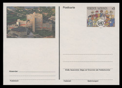 U.N.VIEN Scott # UX  6, 1993 5s People of the World - Mint Postal Card