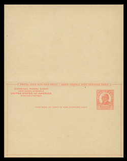 U.S. Scott # UY 12  Sep. 1, 1926 3c McKinley - Mint Message-Reply Card - UNFOLDED (See Warranty)
