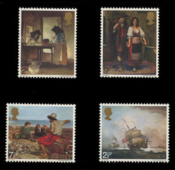 JERSEY Scott #   57-60, 1971 Paintings by Artists from Jersey (Set of 4)