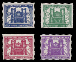 ASDA 1949 (1st) Stamp Show, 71st Regiment Armory, Perforated (Set of 4)